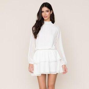 Yumi Kim, XS Class Act Swiss Dot White Dress
